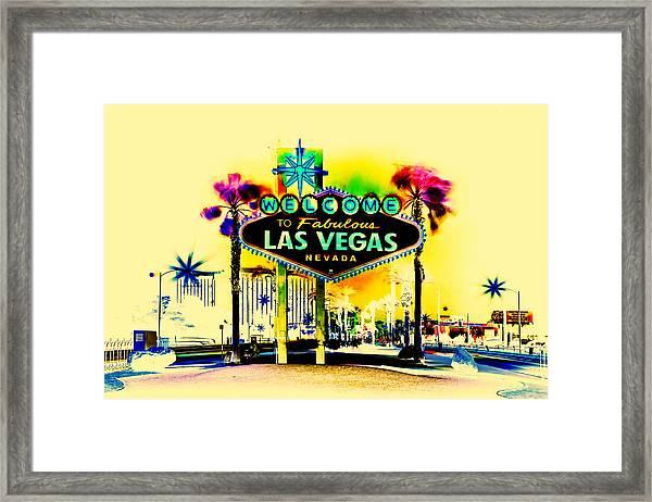 Vegas Weekends Framed Print
