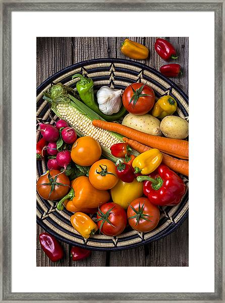 Vegetable Basket    Framed Print