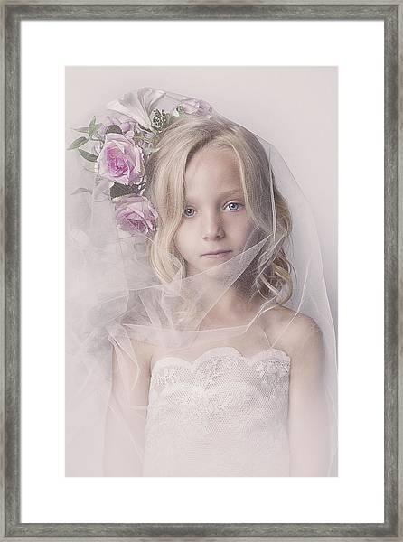 Veil Girl Framed Print