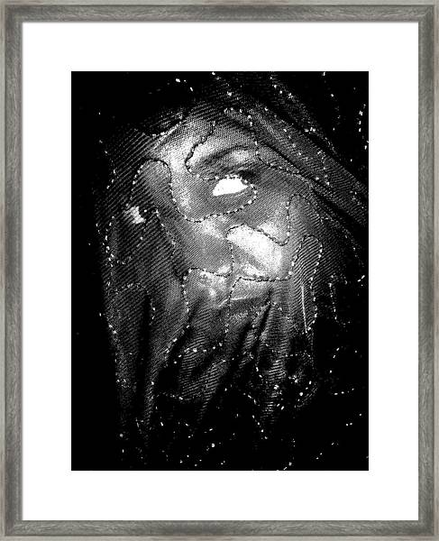Veiled Female Framed Print