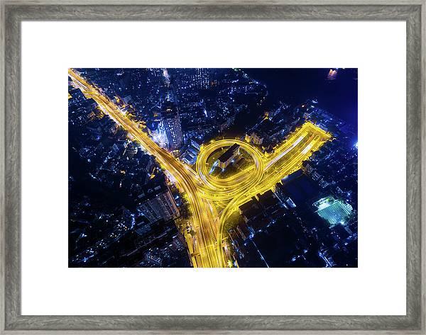 Vein Of The City Framed Print