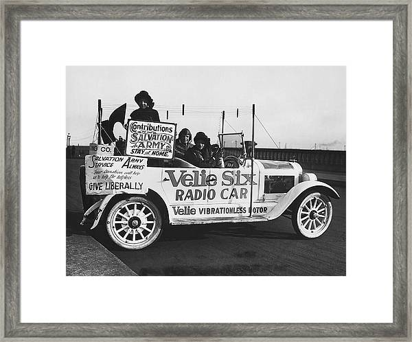 Velie Six Radio Car Framed Print