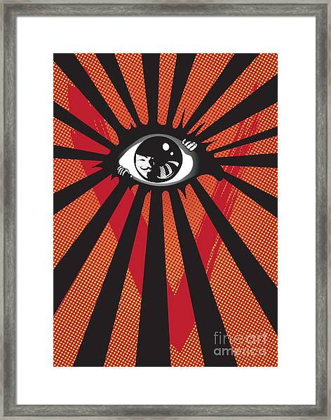 Vendetta2 Eyeball Framed Print