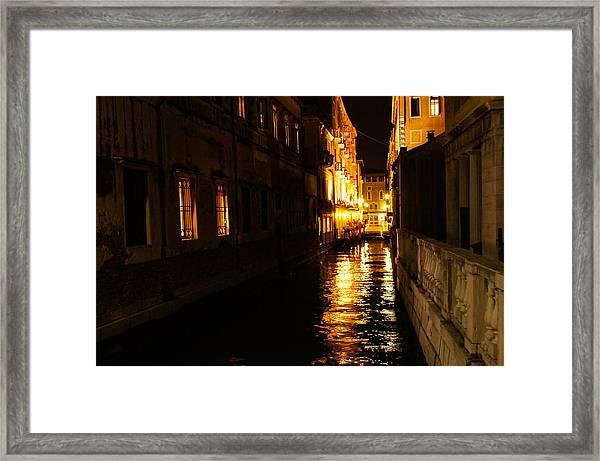 Venetian Golden Glow Framed Print