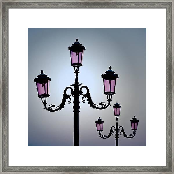 Venetian Lamps Framed Print
