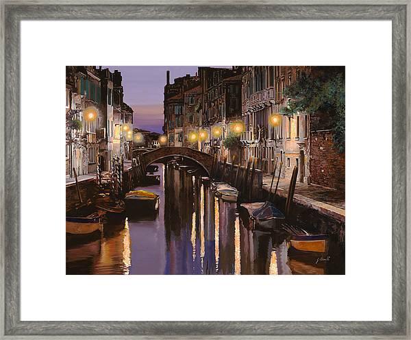 Venezia Al Crepuscolo Framed Print