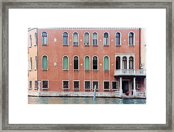 Venice Apartment Framed Print