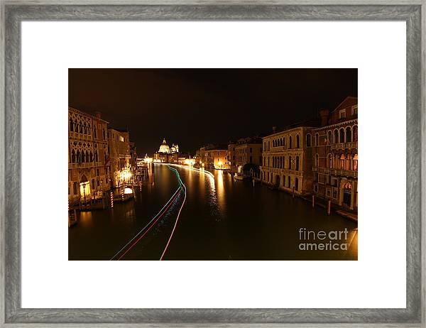 Venice By Night Framed Print