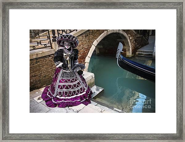 Venice Carnival '15 Vii Framed Print