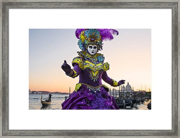 Venice Carnival Iv Framed Print