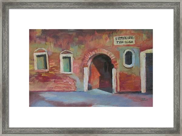 Venice Doorway Framed Print