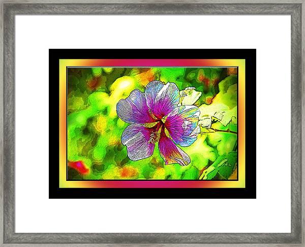 Venice Flower - Framed Framed Print