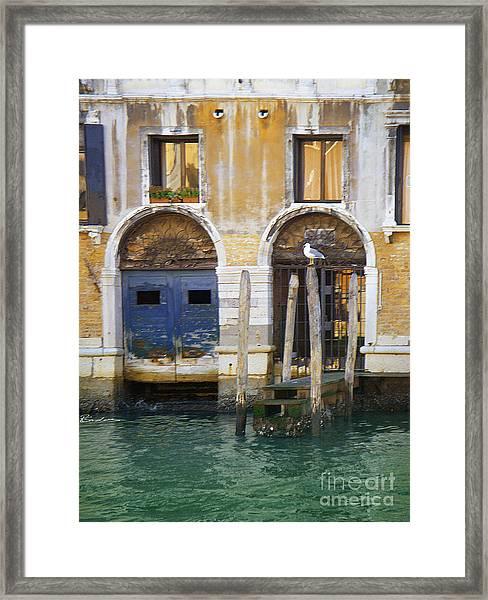 Venice Italy Double Boat Room Framed Print