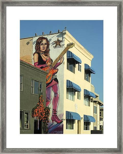 Venice Mural Framed Print