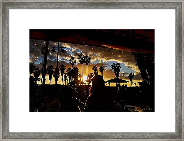 Framed Print featuring the digital art Venice People by Visual Artist Frank Bonilla