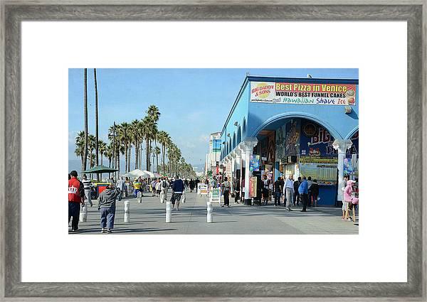 Venice Street Scene Framed Print