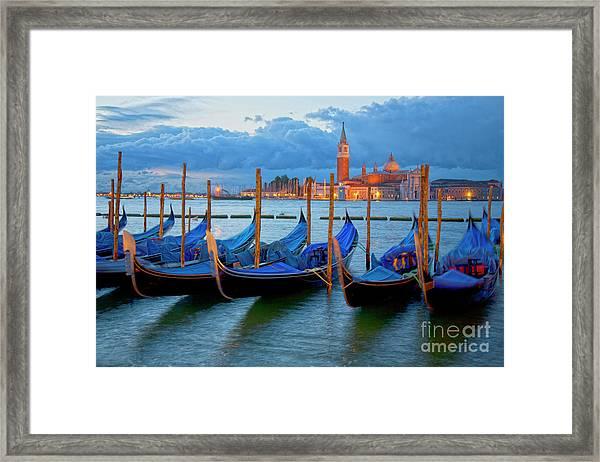 Venice View To San Giorgio Maggiore Framed Print