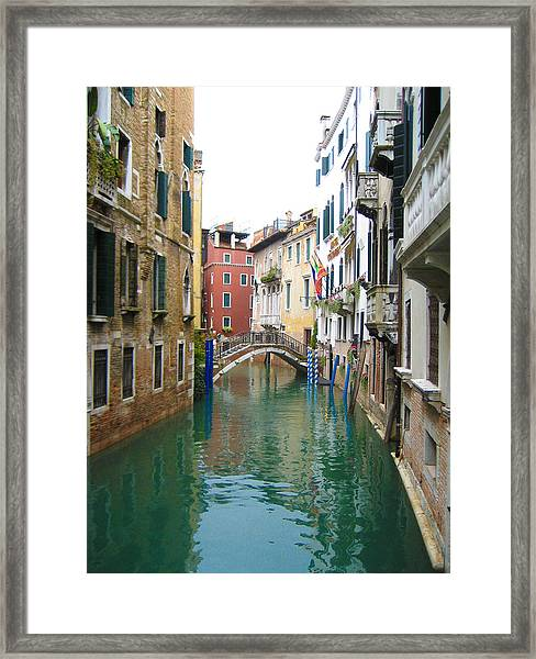 Venice Waterway Framed Print