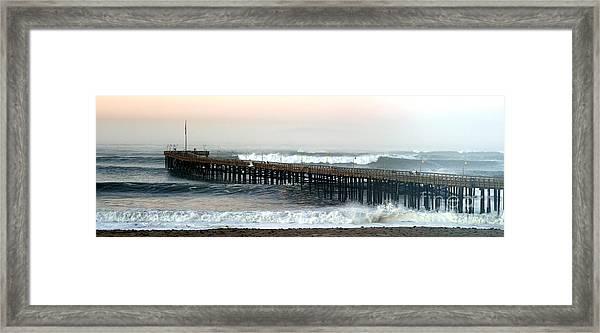 Ventura Storm Pier Framed Print