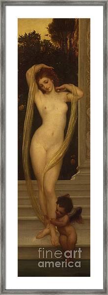 Venus And Cupid Framed Print