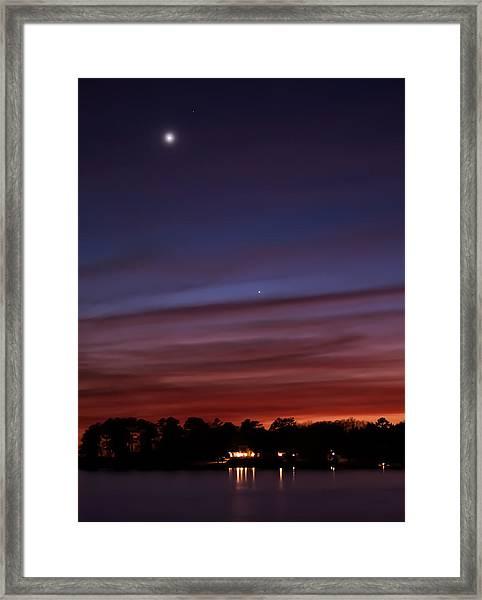 Venus And Mercury Framed Print