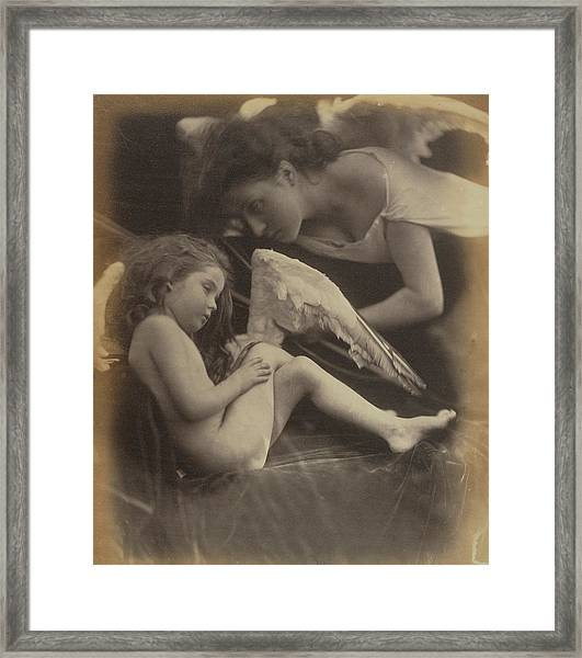 Venus Chiding Cupid And Removing His Wings Julia Margaret Framed Print