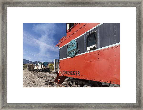 Verde Canyon Railway Caboose Framed Print