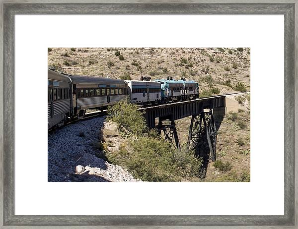 Verde Canyon Railway On Trestle Framed Print