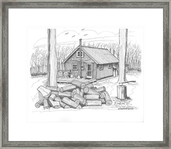 Vermont Hunter Lodge Framed Print