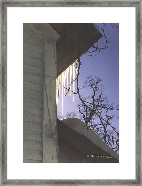 Vermont Roof Framed Print