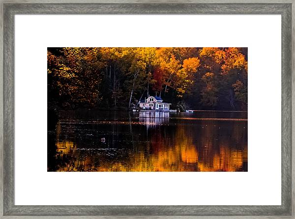 Vermont Route14 Pond Framed Print