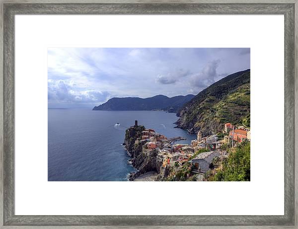 Vernazza By The Sea Framed Print