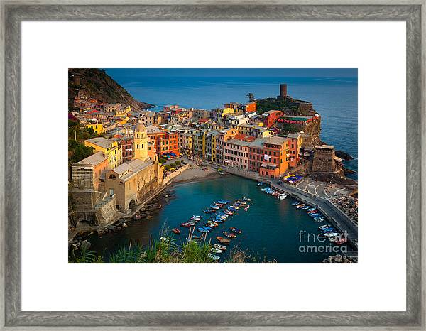 Vernazza Pomeriggio Framed Print