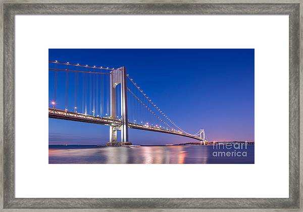 Verrazano Bridge Before Sunrise  Framed Print