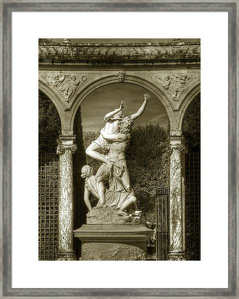 Versailles Colonnade And Sculpture Framed Print