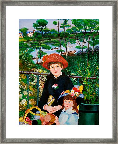 Version Of Renoir's Two Sisters On The Terrace Framed Print
