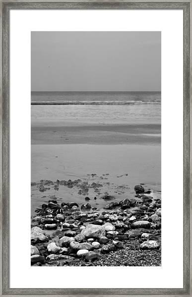 Vertical Beach I Framed Print