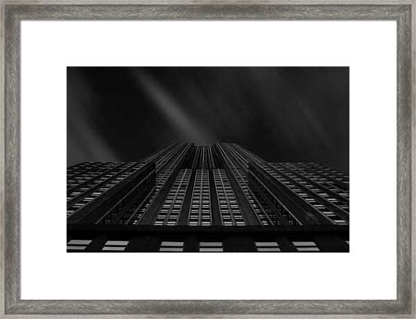 Vertical Scale Framed Print