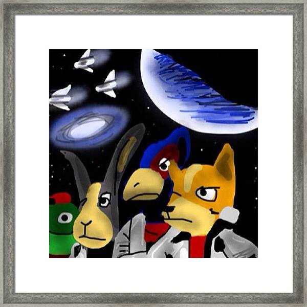 Very Late Entry #monkeysidebars #scifi Framed Print
