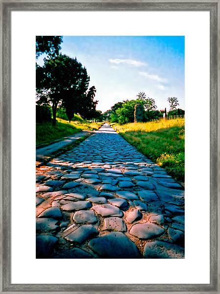 Via Appia Antica - Rome Framed Print