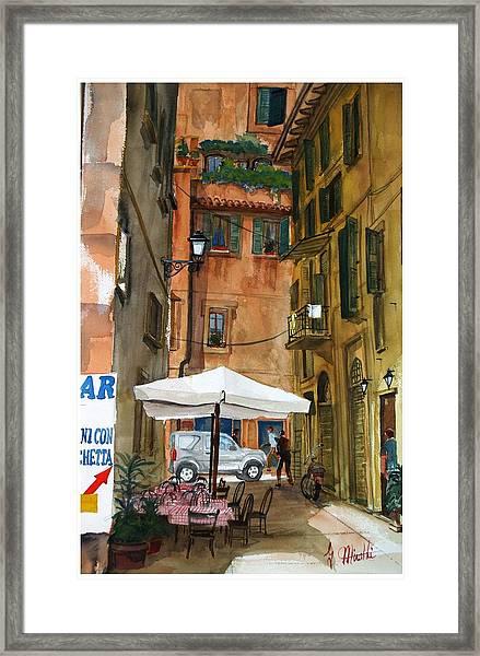 Via Piacenza Framed Print