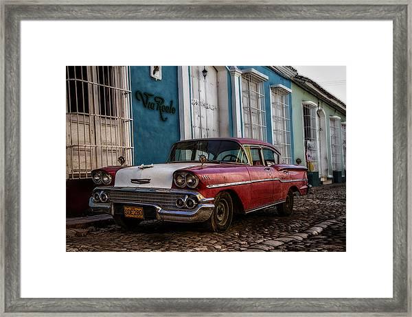 Via Reale Framed Print