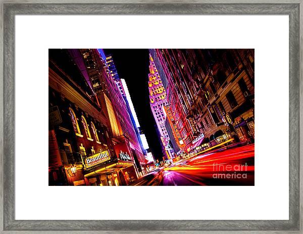 Vibrant New York City Framed Print