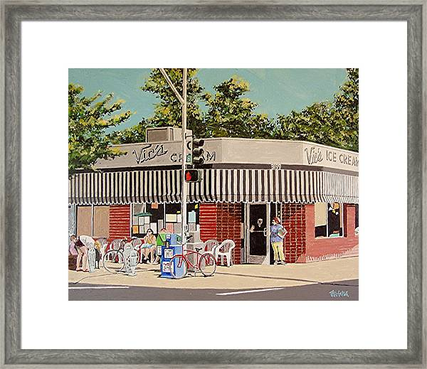 Vic's Ice Cream No. 3 Framed Print by Paul Guyer