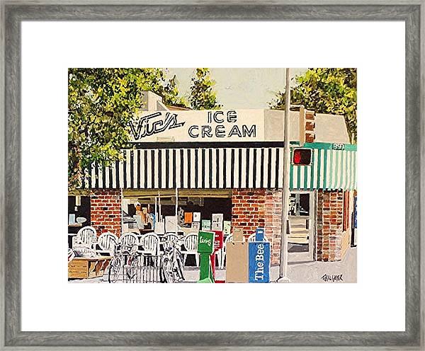 Vic's Ice Cream Framed Print by Paul Guyer
