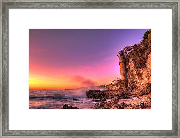 Victoria Beach At Sunset Framed Print