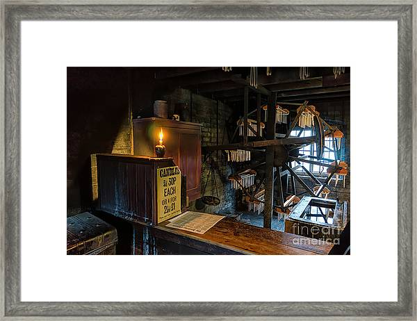 Victorian Candle Factory Framed Print