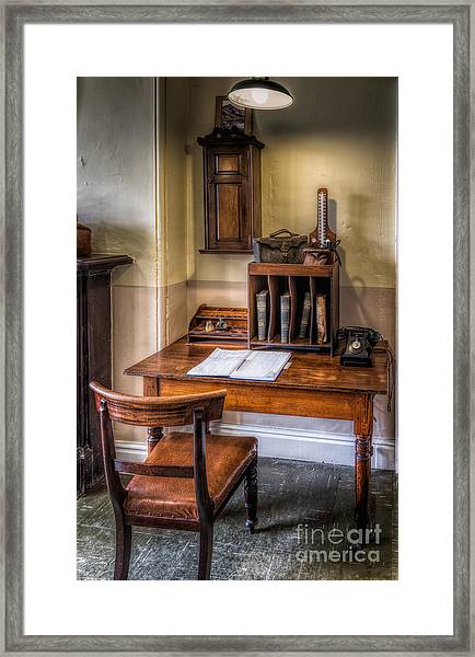 Victorian Medical Office Framed Print