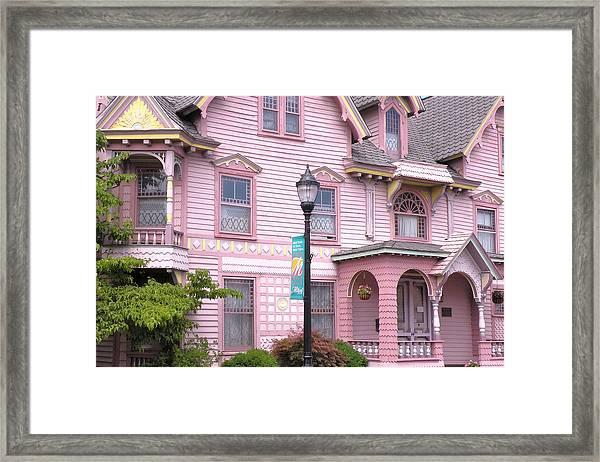 Victorian Pink House - Milford Delaware Framed Print