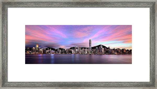 Victoric Harbour, Hong Kong, 2013 Framed Print